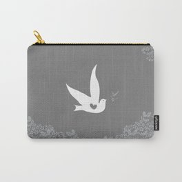 Love and Freedom - Silver/Gray Carry-All Pouch