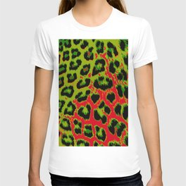 Red and Apple Green Leopard Spots T-shirt