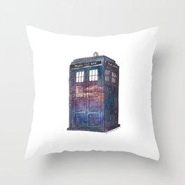 Doctor Who Galaxy Tardis Throw Pillow