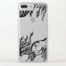 funky cross Clear iPhone Case