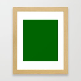 Dark Green Framed Art Print