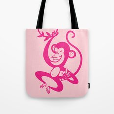 Pink Monkey Tote Bag