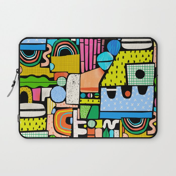 Color Block Collage Laptop Sleeve