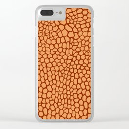 Reptile Pattern Rust and Peach Clear iPhone Case