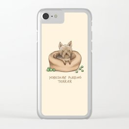 Yorkshire Pudding Terrier Clear iPhone Case