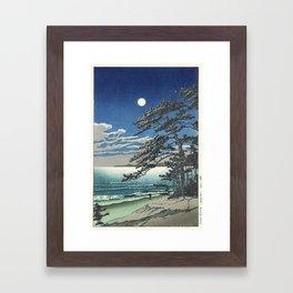 """""""Spring Moon at Ninomiya Beach"""" by Hasui Kawase, 1931 Framed Art Print"""