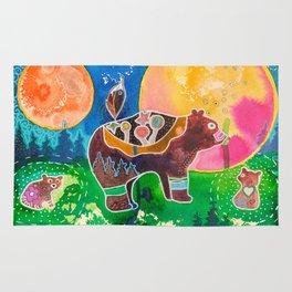 Family bear - animal - by LiliFlore Rug