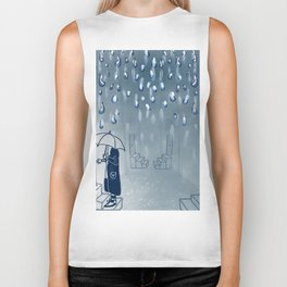 Rainy going home Biker Tank