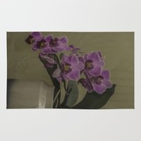 orchid Area & Throw Rugs featuring Orchid by Steve Purnell