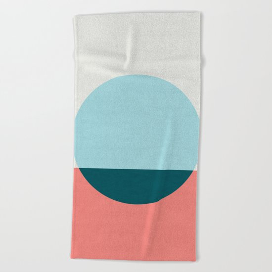 Abstract and minimalist pattern I Beach Towel