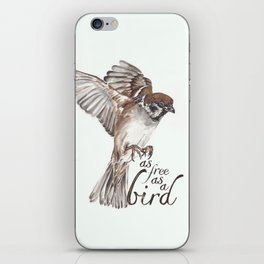 As free as a bird iPhone Skin