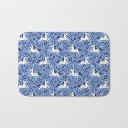 Floral Ponies (Light Blue) Bath Mat