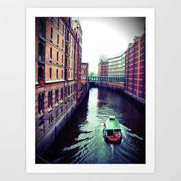 Hamburg or Venice? Art Print