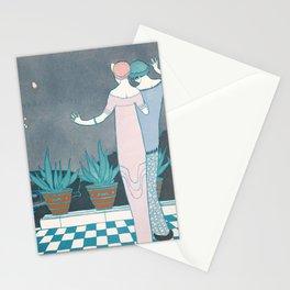 art deco decoration retro usa los angeles america 30s dresses woman sex Stationery Cards
