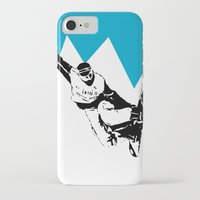 snowboarding iPhone & iPod Cases featuring Snowboarding Design by Cwilwol