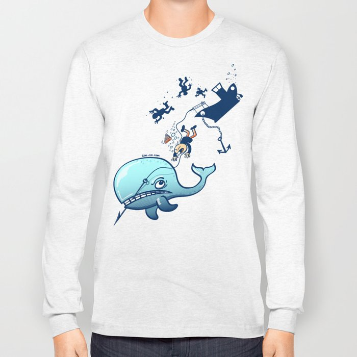 Whales are Furious! Long Sleeve T-shirt