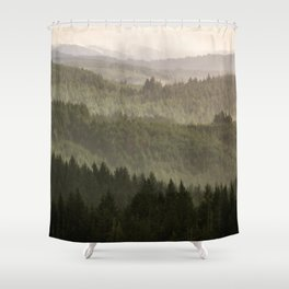 Pacific Coast Mountain Forest - 124/365 Shower Curtain