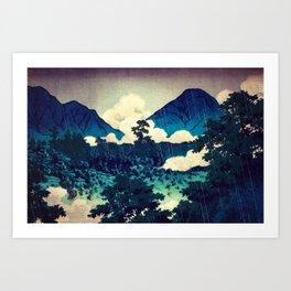 Under the Rain in Doyi Art Print