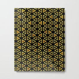 Simple black and gold pattern V2 #society6 Metal Print