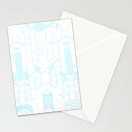 Geo-Hint of Blue Stationery Cards