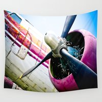 military Wall Tapestries featuring C160 Military Transport Airplane by Eye Shutter to Think Photography