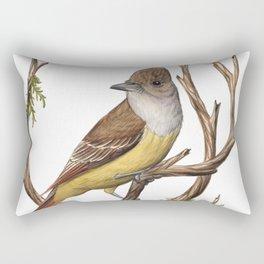 Great Crested Flycatcher (Myiarchus crinitus) Rectangular Pillow