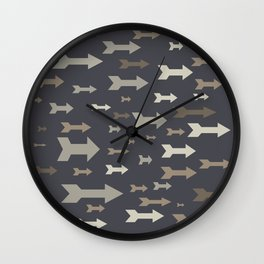 Arrows of different sizes and pastel colors. Wall Clock