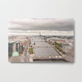 Dublin city center aerial view Metal Print