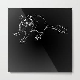I Love Rat House Mouse Rodent Rodent Metal Print