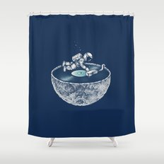 Space Tune Shower Curtain