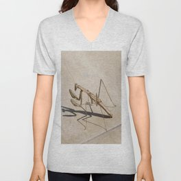 Praying Mantis and Shadow Unisex V-Neck