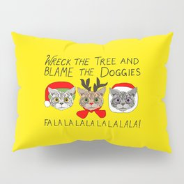 Holiday Cat Brats Pillow Sham