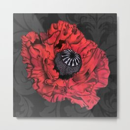 Dancing Red Poppy Metal Print