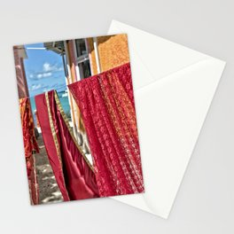 Wash day at Hindu temple, Mauritius Stationery Cards