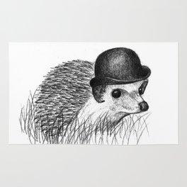Hedgehog in a Bowler Hat Rug