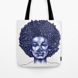 Spiral Afro Tote Bag