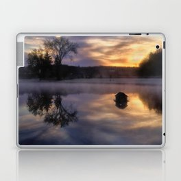 Early One Morning at the Pond Laptop & iPad Skin