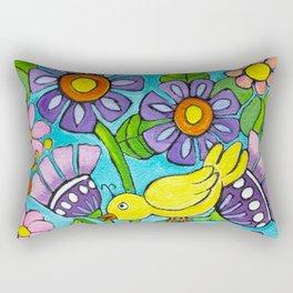 Springtime Series #5 Singing Bird Rectangular Pillow