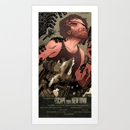 Escape From New York Poster Art Print