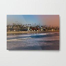 Palm Trees Ocean Breeze Metal Print