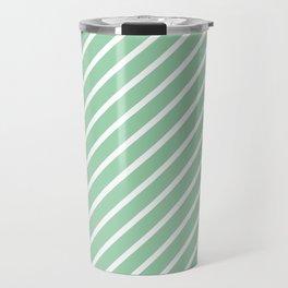 Mint Green Tight Stripes Travel Mug