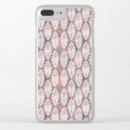 Pink and leaves Clear iPhone Case