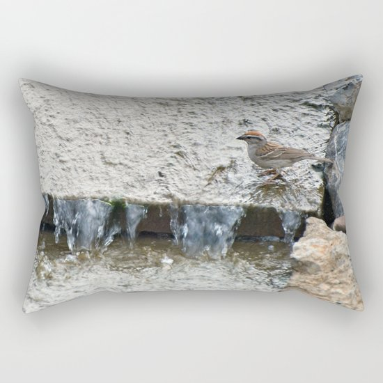 Water (Chipping Sparrow) Rectangular Pillow