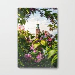 Stockholm City Hall in Summer Greens Metal Print