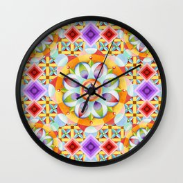 Avalon Mandala Wall Clock