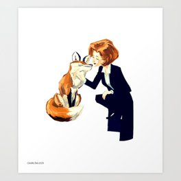 Trust of the Fox Art Print