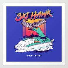 Ski Hawk Art Print