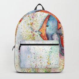 Fish Watercolor Painting Backpack