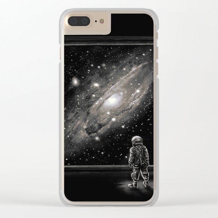 Looking Through a Masterpiece Clear iPhone Case