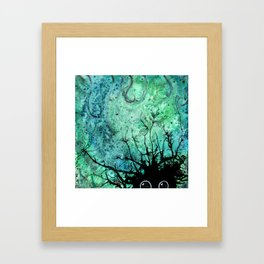 Swamp Monster Framed Art Print